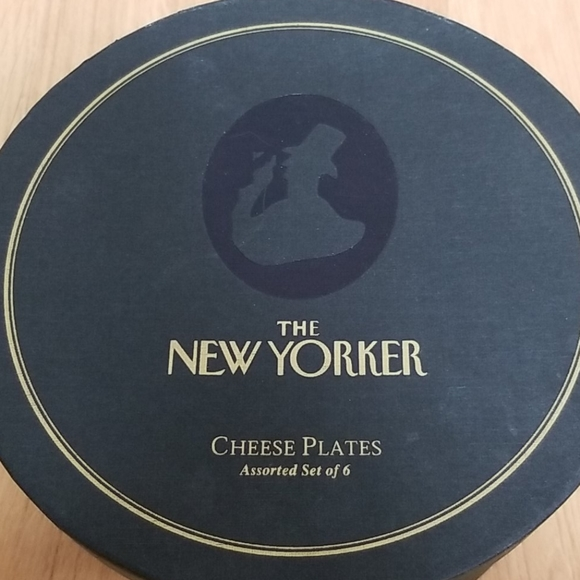 The New Yorker cheese plates set of 6